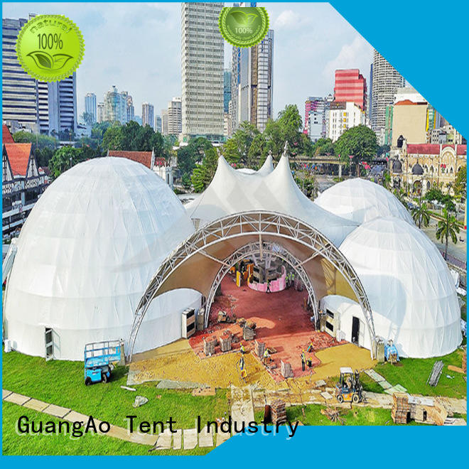 canopy dome shelter tent tent semi-circle for resort