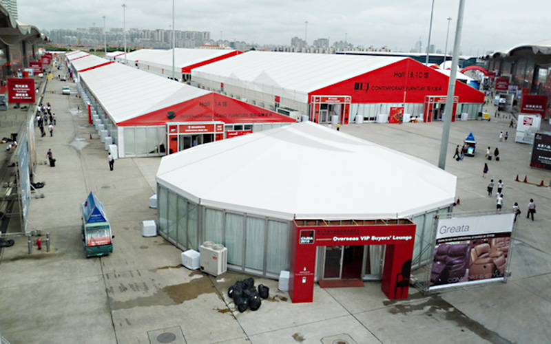 GuangAo-Customized Outdoor Commercial Activities Octagon Exhibition Tent