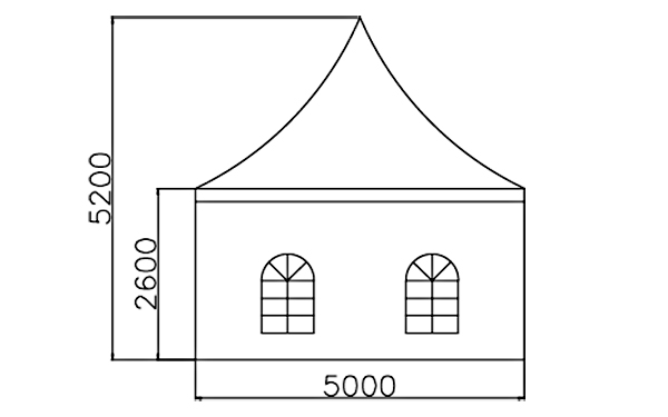 GuangAo tent display curve shape for outdoor-5