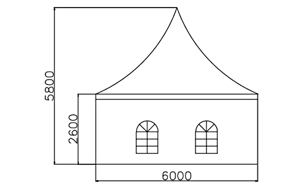 GuangAo tent display curve shape for outdoor-6