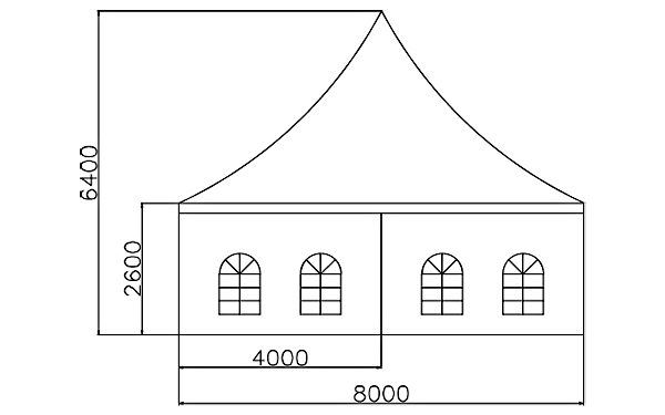 GuangAo-Best Outdoor Pagoda Trade Show Tent With Glass Wall Of Exhibition-6