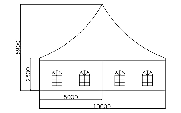 GuangAo-Best Outdoor Pagoda Trade Show Tent With Glass Wall Of Exhibition-7