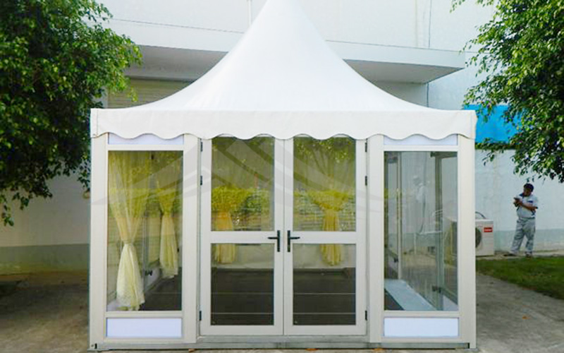 GuangAo-Best Outdoor Pagoda Trade Show Tent With Glass Wall Of Exhibition-8