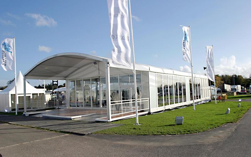 Guangzhou Wholesale Aluminum Structure Curve Shape Tent for Outdoor Exhibition