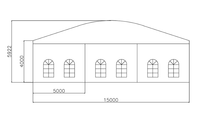 GuangAo-Guangzhou Wholesale Aluminum Structure Curve Shape Tent-4