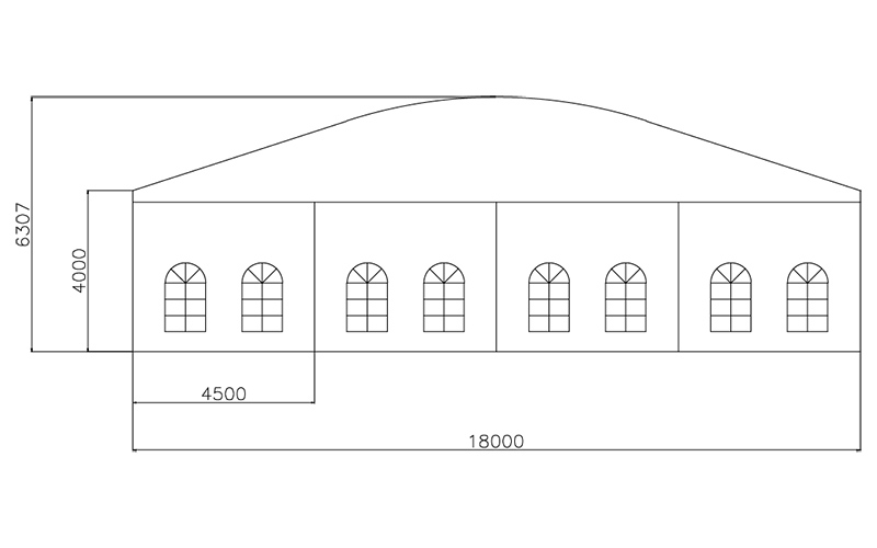 GuangAo-Guangzhou Wholesale Aluminum Structure Curve Shape Tent-5