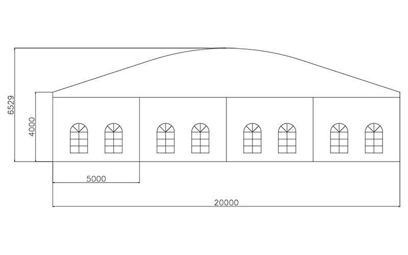 GuangAo-Guangzhou Wholesale Aluminum Structure Curve Shape Tent-6