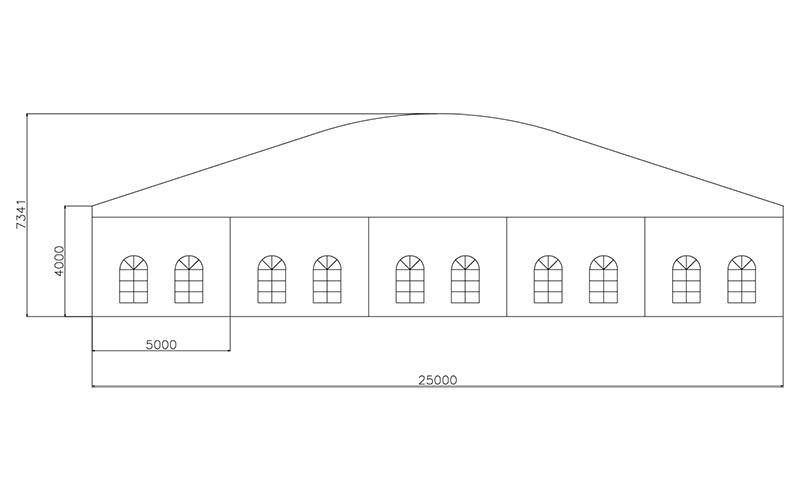 GuangAo-Guangzhou Wholesale Aluminum Structure Curve Shape Tent-7