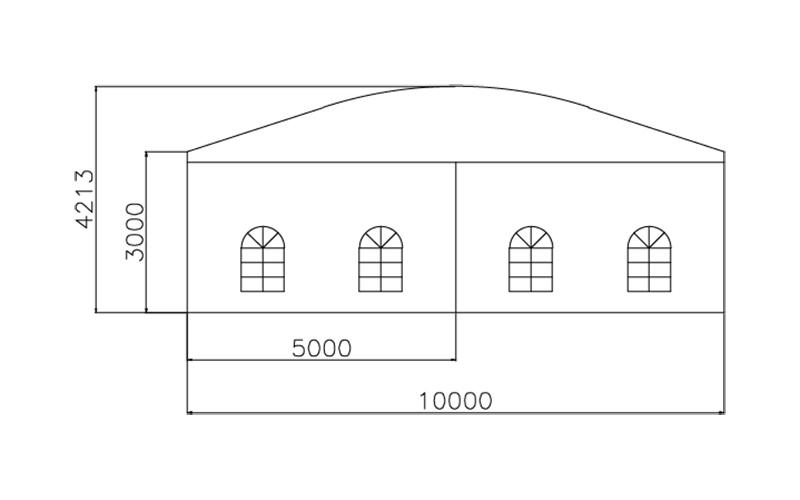 GuangAo-Guangzhou Wholesale Aluminum Structure Curve Shape Tent-2