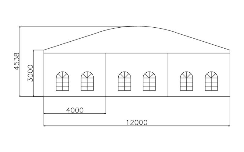 GuangAo-Guangzhou Wholesale Aluminum Structure Curve Shape Tent-3