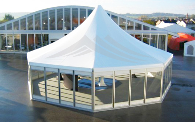 GuangAo-Best Outdoor Marquee Hexagonal Tent With Glass Wall For Exhibition-1