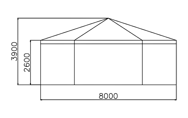 GuangAo-Best Outdoor Marquee Hexagonal Tent With Glass Wall For Exhibition-3