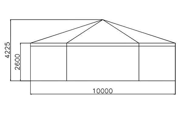 GuangAo-Best Outdoor Marquee Hexagonal Tent With Glass Wall For Exhibition-4