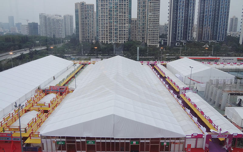 A Shape Roof Commercial Exhibition Event Tent With PVC Bay Window