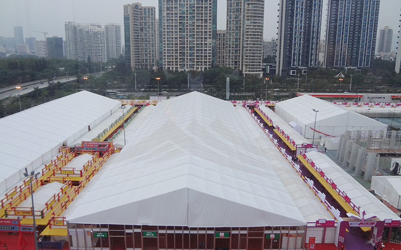 GuangAo-A Shape Roof Commercial Exhibition Event Tent丨Guangao Tent Industry