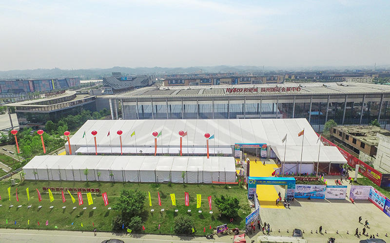Outdoor Trade Show Tent Assembled A Shape Roof Exhibition Canopy