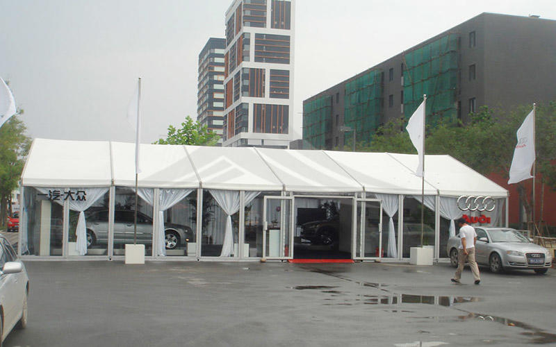 A Shape Roof Galss Wall Commercial Event Tent For Outdoor Exhibition
