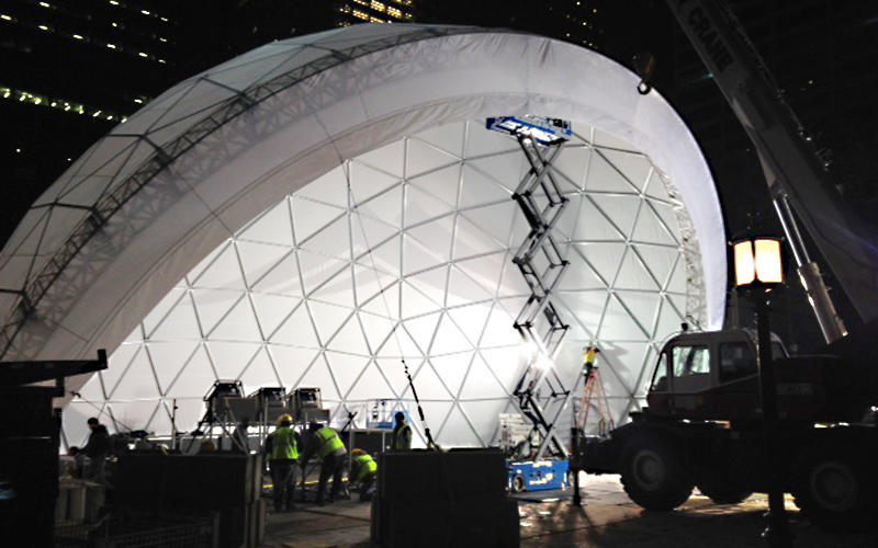Semi-circle Commercial Performance Canopy Half Geodesic Dome Tent