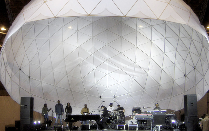 GuangAo-Best Semi-circle Performance Canopy Half Geodesic Dome Tent-4