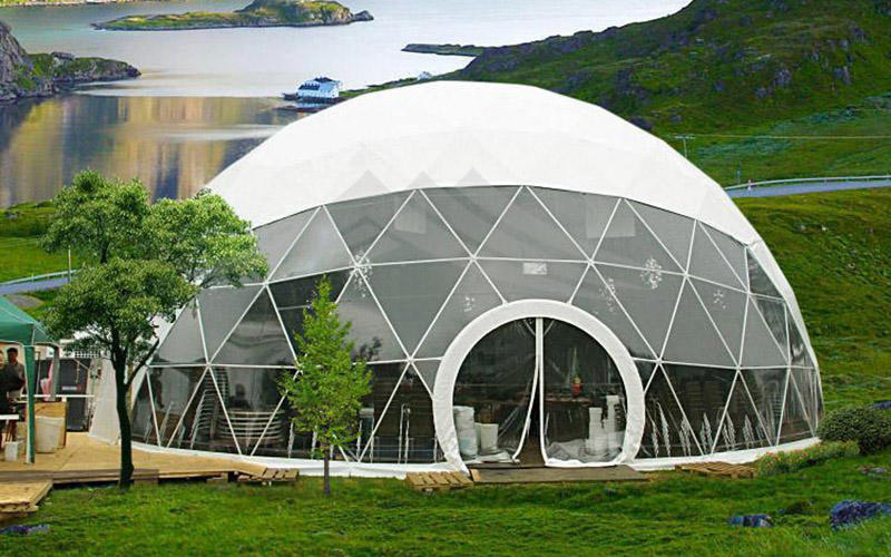 Luxury Customized Diameter Geodesic Dome Tent for Outdoor Hotel Resort Room