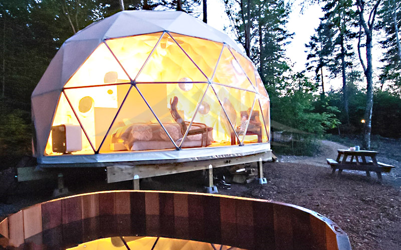 GuangAo-Luxury Customized Diameter Geodesic Dome Tent For Outdoor-1