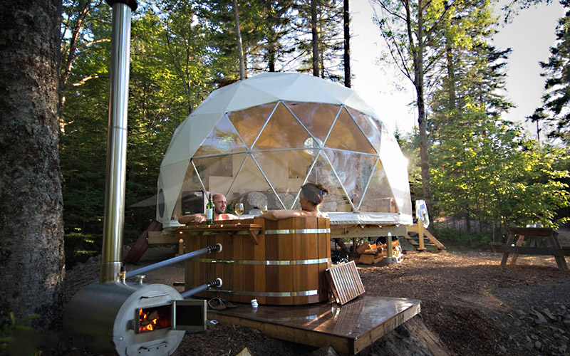 GuangAo-Luxury Customized Diameter Geodesic Dome Tent For Outdoor-2
