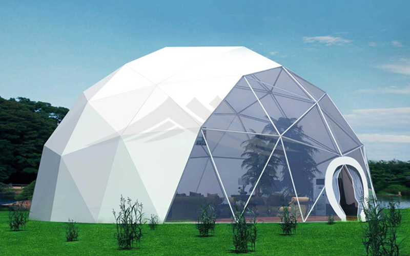 GuangAo-Luxury Customized Diameter Geodesic Dome Tent For Outdoor-3