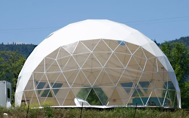 GuangAo-Luxury Customized Diameter Geodesic Dome Tent For Outdoor-4