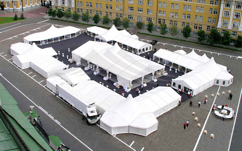 GuangAo-Best Guang Ao Wind Resistant High Peak Mixed Marquee Party Tent