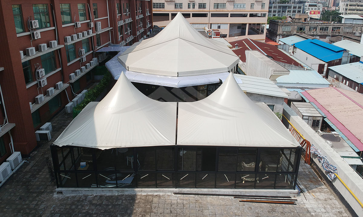 GuangAo-Vienna hotel outdoor cafe tent   Tent Manufacturers