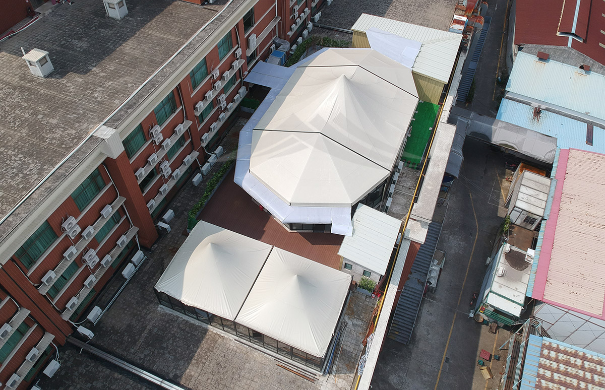 GuangAo-Vienna hotel outdoor cafe tent   Tent Manufacturers-1