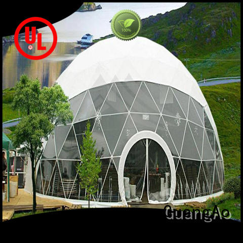 GuangAo dome shelter tent manufacturer room