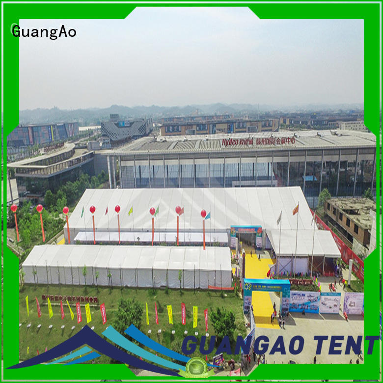 GuangAo heavy duty tent curve shape for exhibition