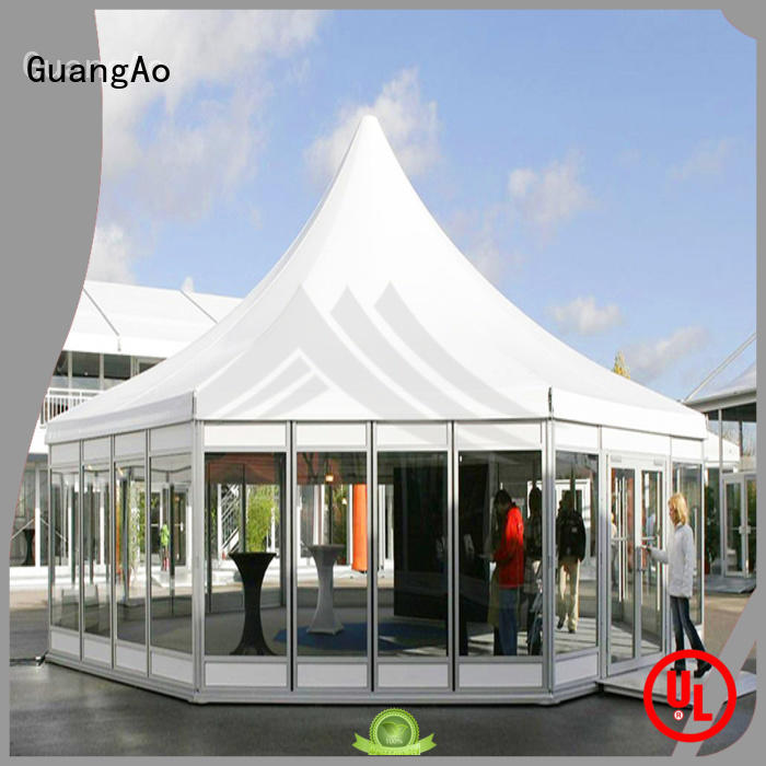 GuangAo high safety exhibition tent curve shape for exhibition