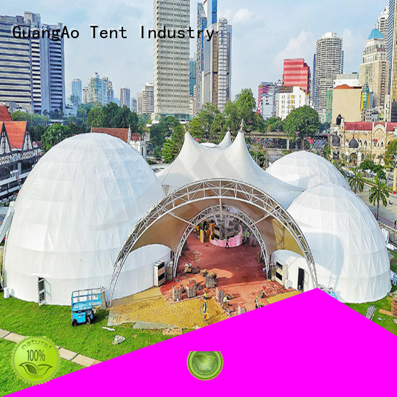 dome geodesic dome tent factory price for hotel GuangAo