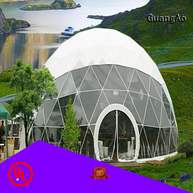 GuangAo customized large geodesic dome tent geodesic for hotel