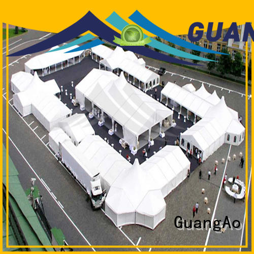 GuangAo party high tents durable Outdoor Event Promotion