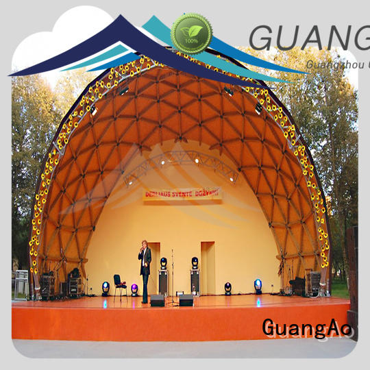 GuangAo geo dome tent semi-circle room