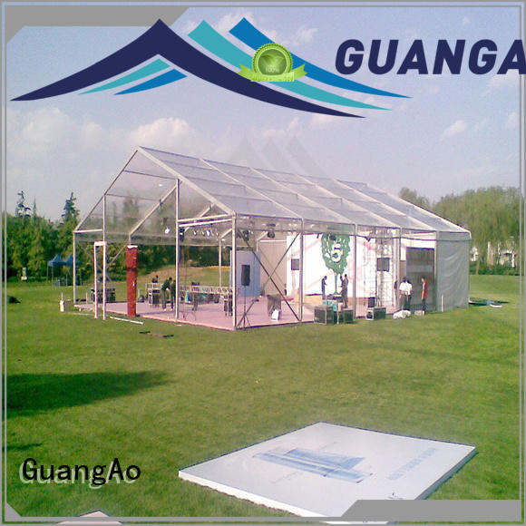 GuangAo roof clear canopy tent decorated Exhibitions