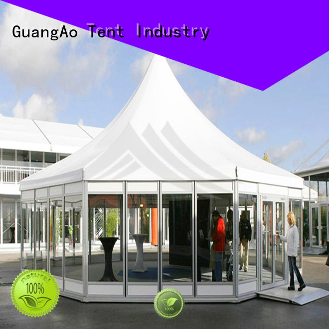 customized tent exhibition assembled for outdoor