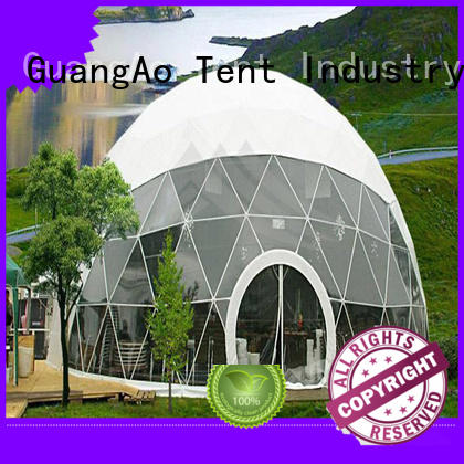 GuangAo tent geo dome tent manufacturer room