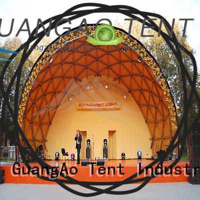 GuangAo canopy geo dome tent factory price for outdoor dome