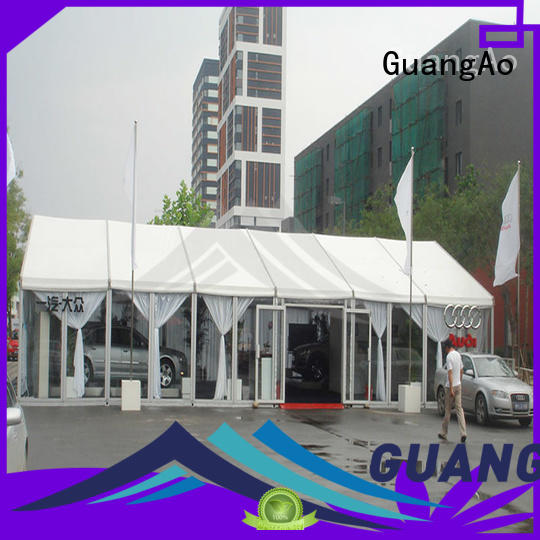 GuangAo exhibition marquee tents prices curve shape for outdoor