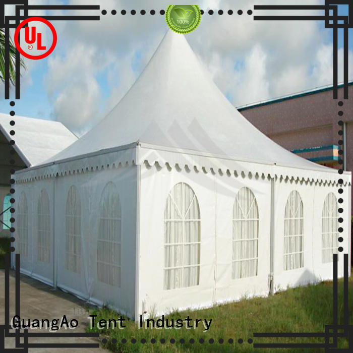GuangAo tent display curve shape for outdoor