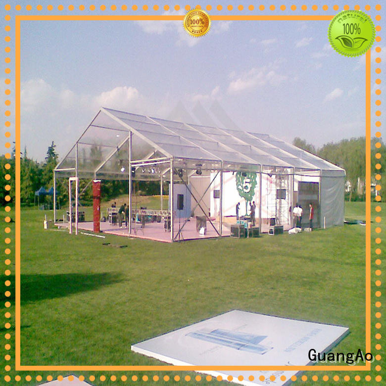 GuangAo clear clear tent for sale Exhibitions