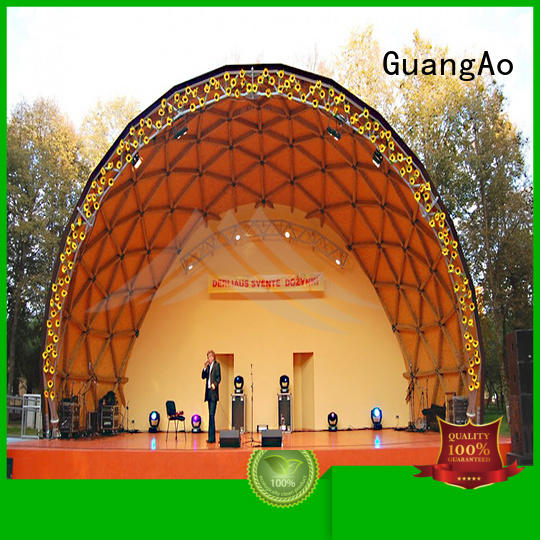 GuangAo tent event dome tent semi-circle for outdoor dome