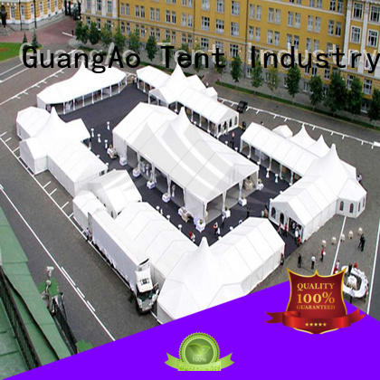 GuangAo bulk production high tents Breathable Outdoor Event Promotion