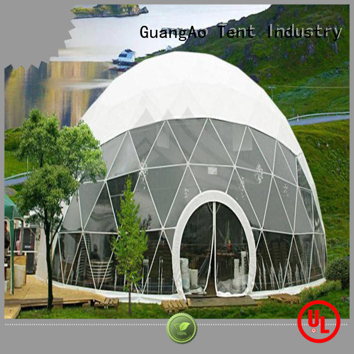 customized large dome tent geodesic semi-circle for resort