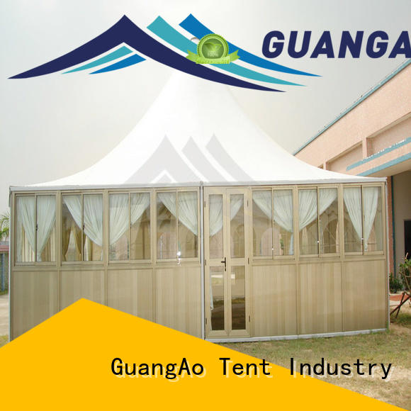 GuangAo customized marquee tent for sale curve shape for exhibition