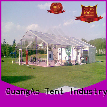 GuangAo tent clear top tent for sale decorated Party